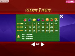 Classic7Fruits gokkast77.com MrSlotty 5/5