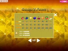Golden7Fruits gokkast77.com MrSlotty 5/5