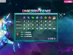 Unicorn Gems gokkast77.com MrSlotty 3/5